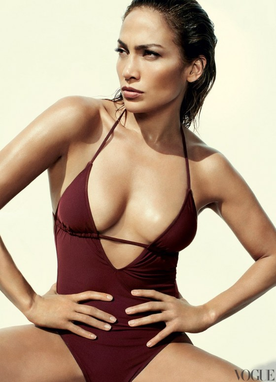 Jennifer Lopez in a bikini for Vogue Magazine (June 2012) photoshoot
